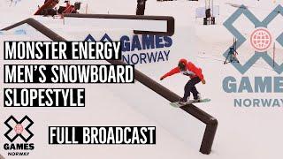 Monster Energy Men's Snowboard Slopestyle: FULL BROADCAST | X Games Norway 2020