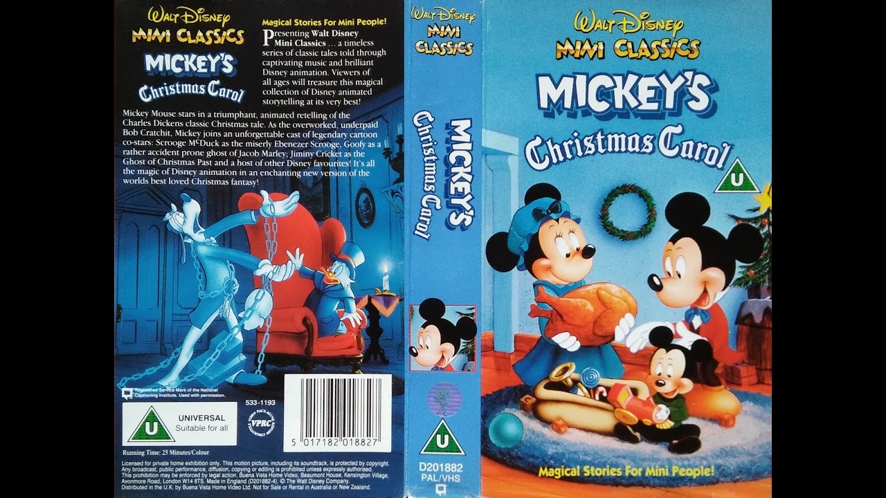 opening of mickeys christmas carol 1993 uk vhs - Mickeys Christmas Carol