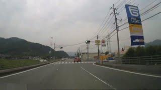【車載】山口県山口市ナフコ大内店からフジグラン山口へ向かう