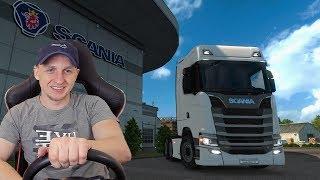 🚛МОЙ ПЕРВЫЙ ГРУЗОВИК. ИГРАЮ НА РУЛЕ в Euro Truck Simulator 2