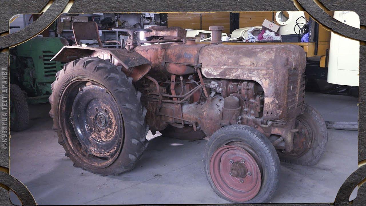 Убитый советский трактор ДТ 20. Жизнь его не пощадила.