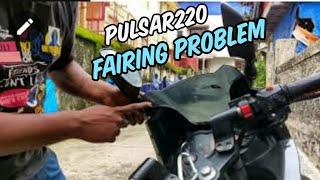 Review Of Bajaj Pulsar220 fairing Problem Part 5