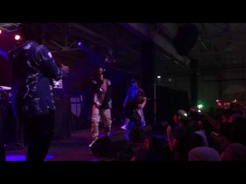 "Nyck @ Knight (NYCk Caution & Kirk Knight) Perform ""Ring The Alarm"" W/ Joey Bada$$ @ House of Vans"