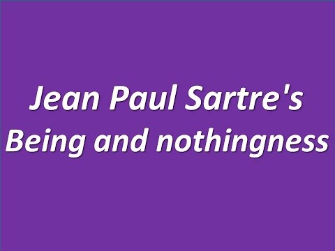 Hazel E Barnes Jean Paul Sartre's Being and nothingness