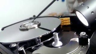 Hard Drive Platter Scratch diagnostics at PITS Data Recovery LAB