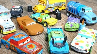 Disney Cars 3 Crazy 8 Crashers have Rubber Tires and Race Fast against Chester Whipplefilter