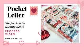 SIMPLE STORIES KISSING BOOTH - VALENTINE'S POCKET LETTER -DIY SNAIL MAIL IDEAS