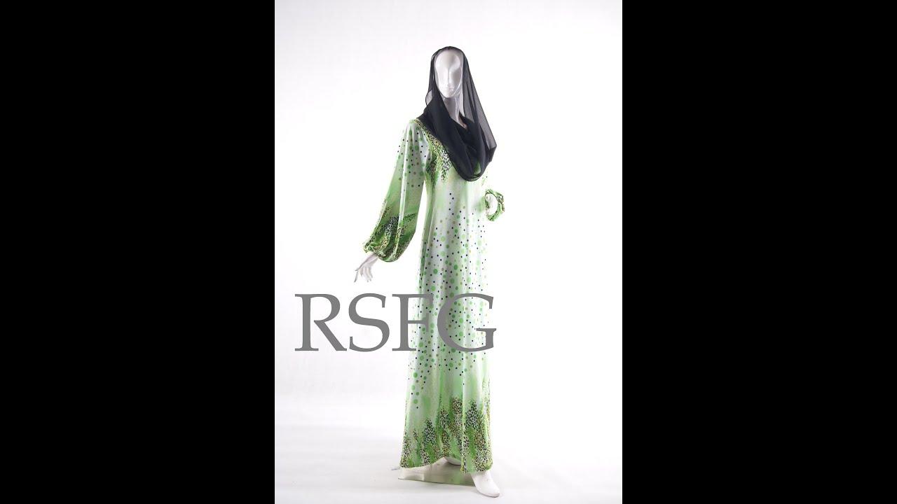 Jubah Dress Spandex Terbaru Dari R.S.F.G - YouTube