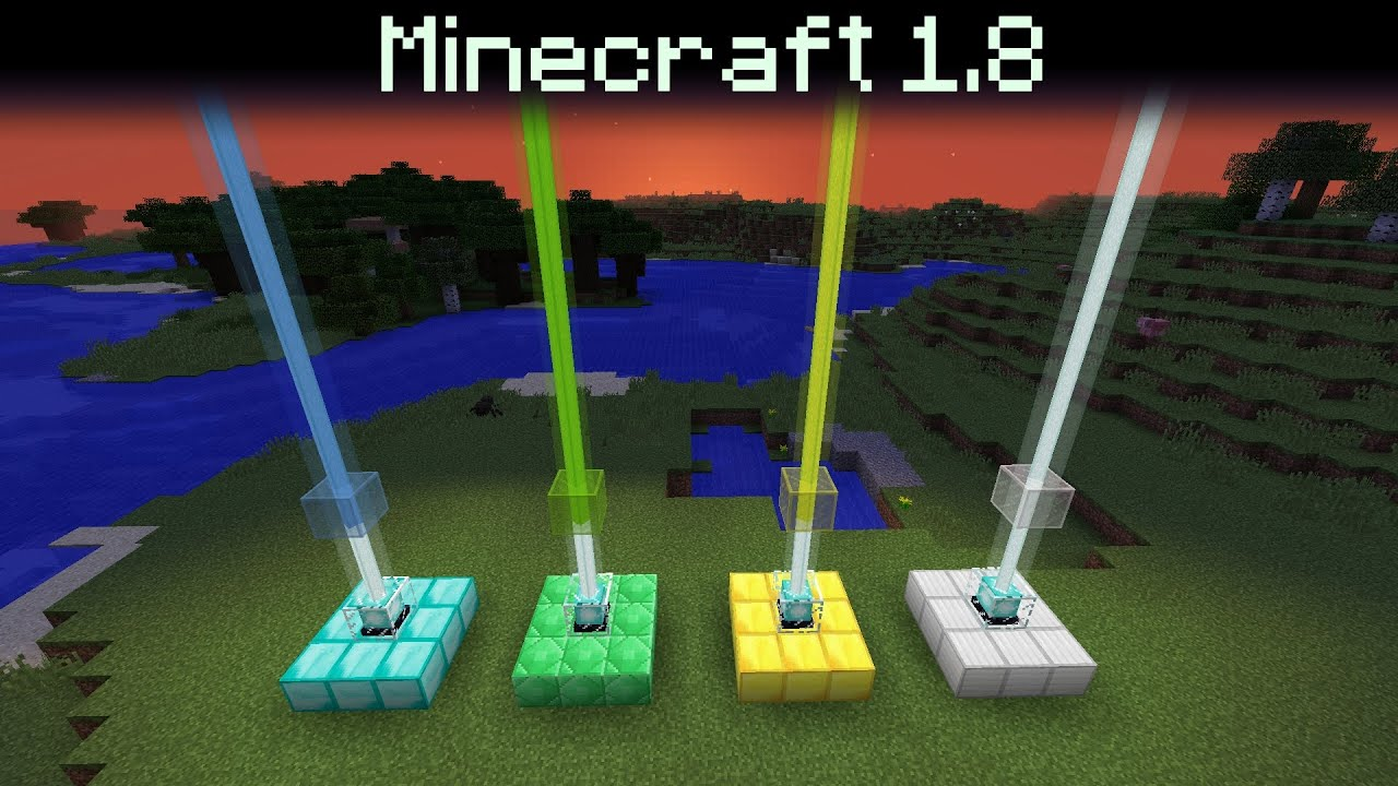 minecraft 1 8 coloured beacon beams armor stands new wood