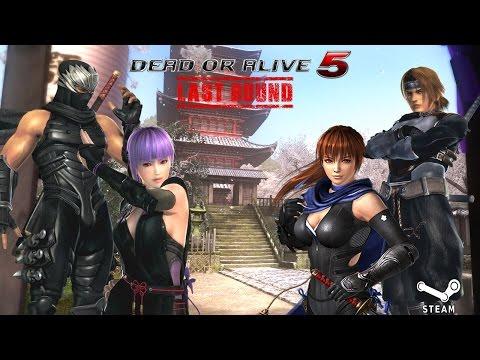 NINJA TEAMS BATTLE!  Ayane/Hayabusa VS Kasumi/Hayate - Dead Or Alive 5 Last round (PC) Gameplay
