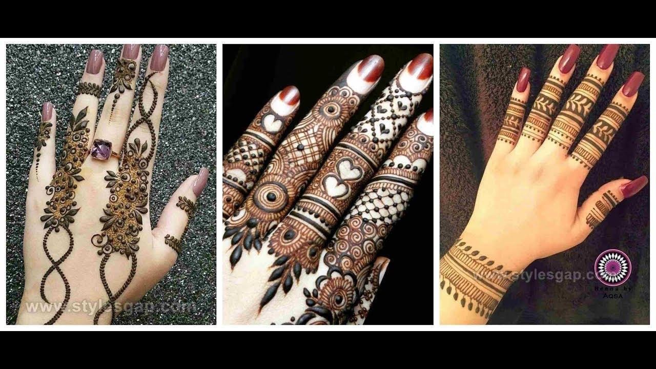 Simple Finger Mehndi Design 2019 2020 Arabic Finger