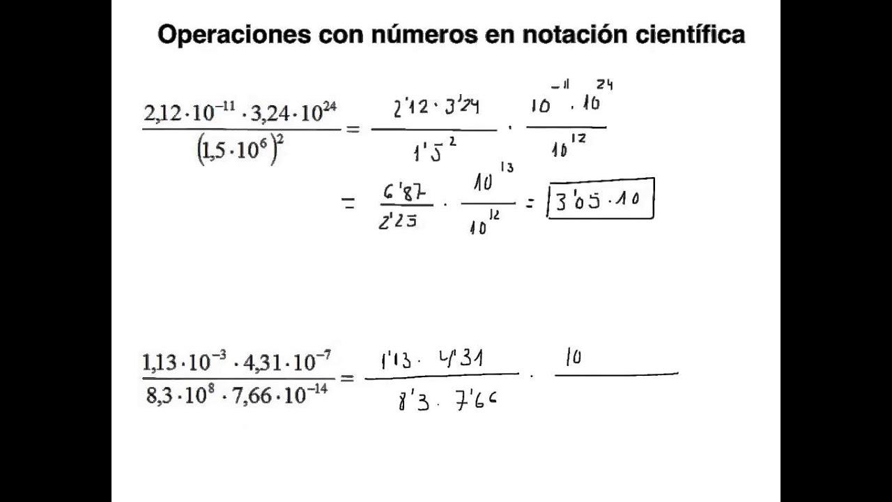 ejercicios con notacion cientifica pdf