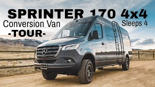 Mercedes Sprinter 170 4x4 - Conversion Van Tour - Sleeps up to 4 - w/Guest Bed/Couch. Check it out!