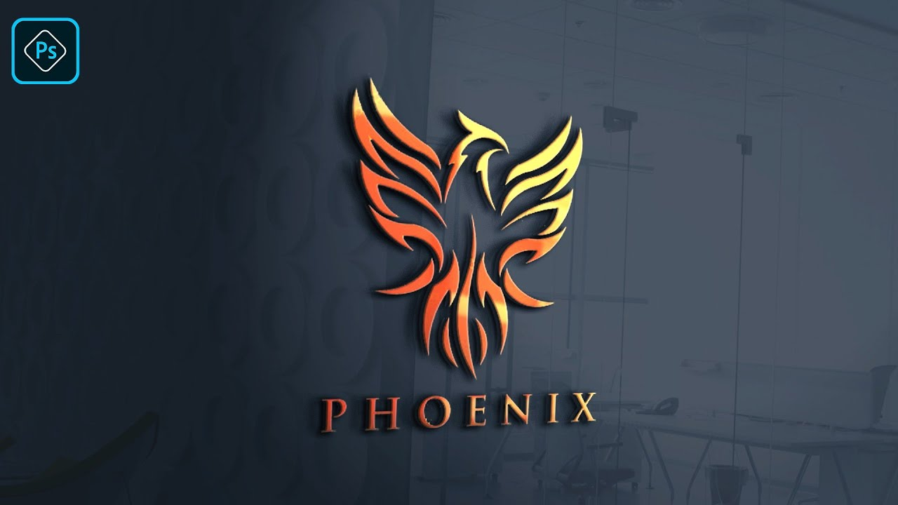Download How to create 3d bird logo in photoshop/ edit logo mockup ... Free Mockups