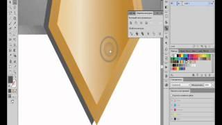 Создание логотипа (company logo tutorial (Illustrator CS6)(Создание логотипа с использованием имитации золота и платины. Учимся создавать металлические градиенты..., 2013-03-21T22:47:31.000Z)