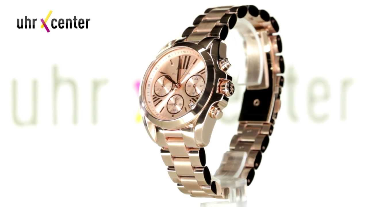 0d005bf9c0fe Michael Kors MK5799 Bradshaw Mini Damen-Chronograph - YouTube