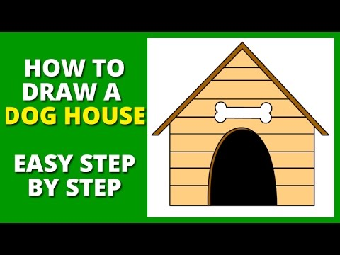 How to Draw a Dog House Step by Step - YouTube