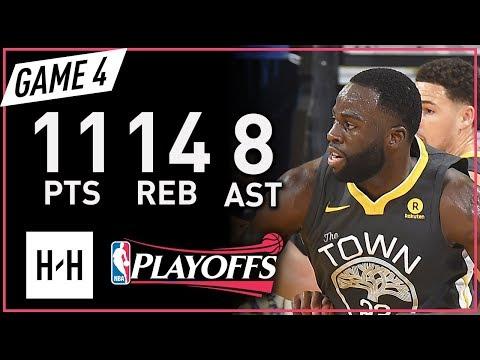 Draymond Green Full Game 4 Highlights vs Rockets 2018 NBA Playoffs WCF - 11 Pts, 14 Reb, 8 Ast!