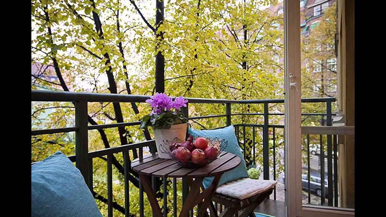Balcony interior design.