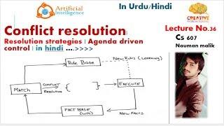 Conflict resolution| Resolution strategies | Agenda driven control | in hindi |lec36 |Nauman Malik|