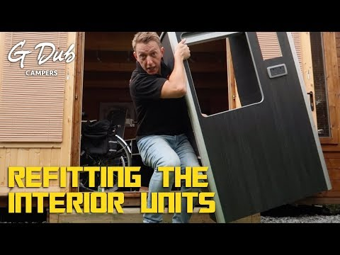 VW T5 Campervan Conversion - Refitting the interior units (plus a few other bits)