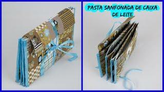 Pasta Sanfonada de caixa de leite e coruja – 2 Mostrando ComoseFaz