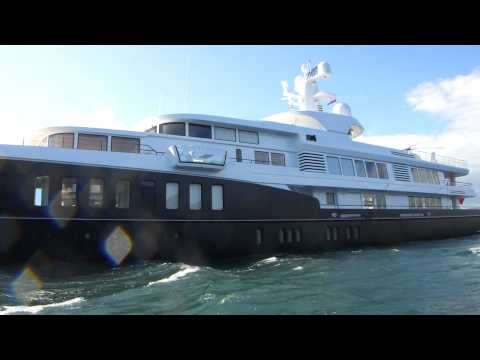 Super Yacht 'Air' outside Kinsale, Cork, Ireland