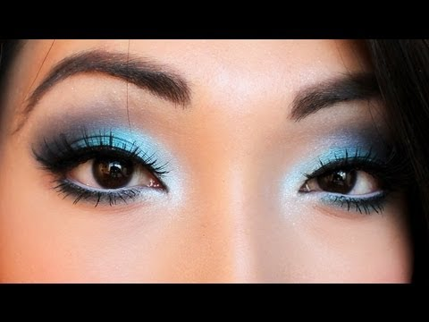 Smokey Blue Eyeshadow Tutorial Youtube