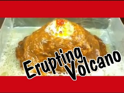 Home science project volcano