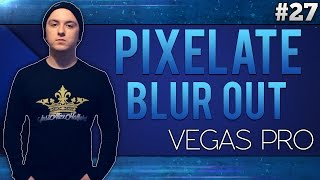 Sony Vegas Pro 13: How To Blur/Pixelate Things Out -Tutorial #27