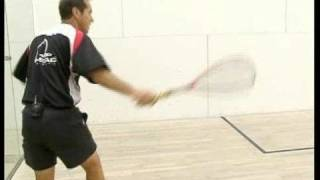 Squash Shot Tips : Digging Squash Balls Out of the Corner