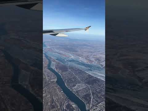 Winter Landing at Detroit Metropolitan Airport- Frontier Airlines- January 2018