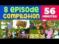 Zaky Cartoon Compilation - 8 Episodes   A Day With Zaky & Friends