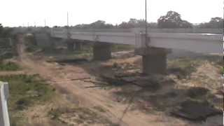 Crossing scenic Cossye river near Midnapore: Aranyak Express on- boa