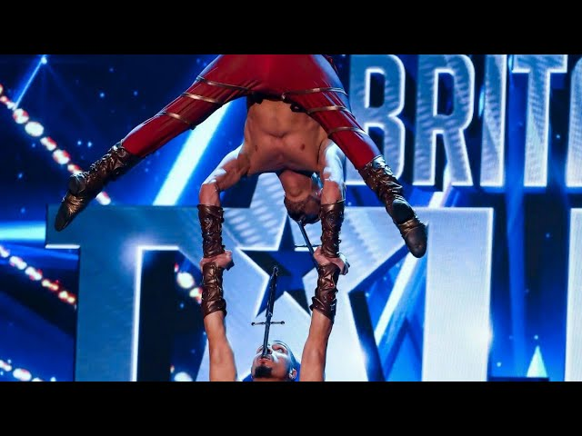 The Most Dangerous Act on Britain's Got Talent.   The Vardayan Brothers. #1
