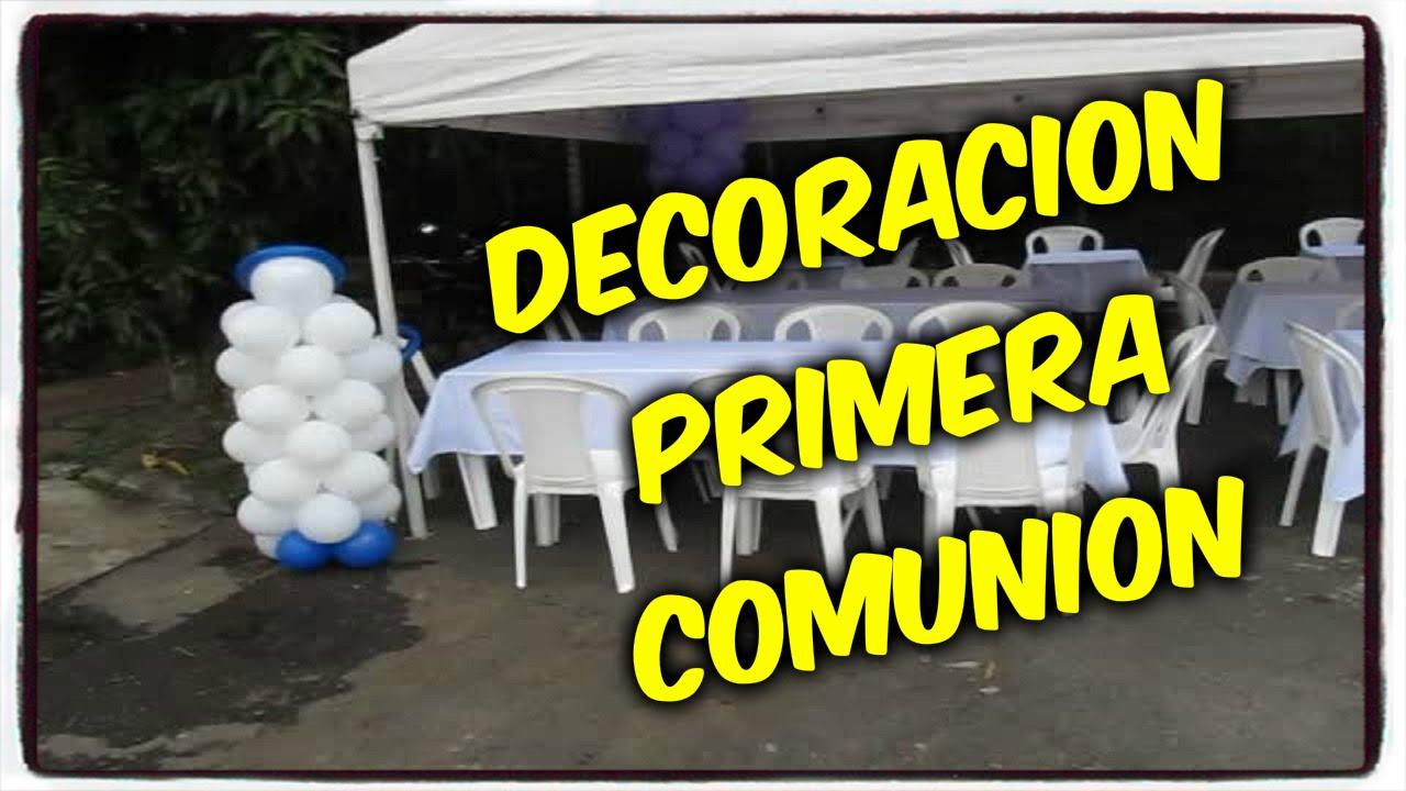 Decoracion primera comunion decoracion sencilla youtube - Decoracion fiesta comunion ...