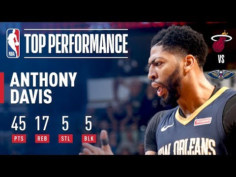 Anthony Davis, 1st NBA Player With 40 Points, 15 Rebounds, 5 Steals, and 5 Blocks in a Game