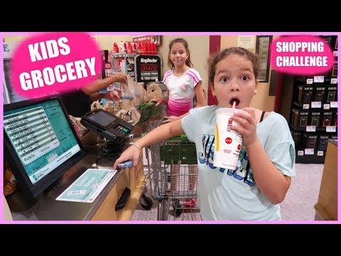 KIDS GROCERY SHOPPING CHALLENGE ' No Budget '  | SISTER FOREVER