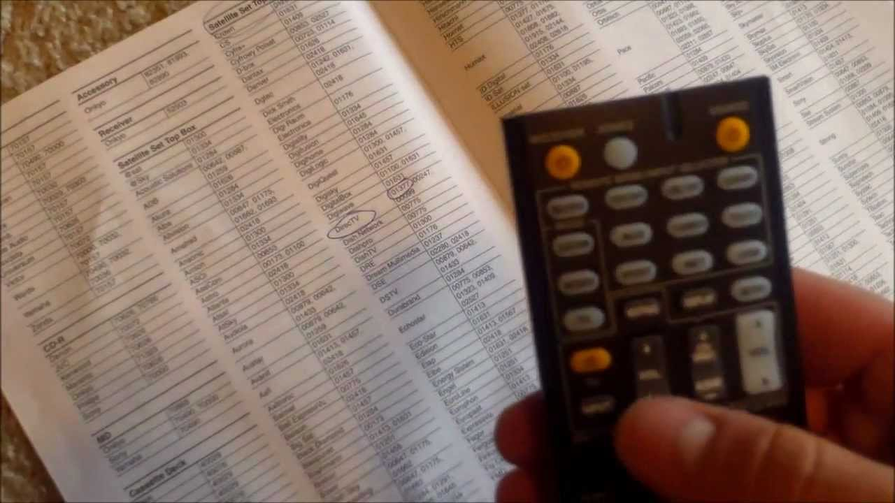 PROGRAMMING ONKYO REMOTE To TV Code Review