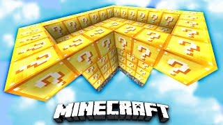 FUNNY LUCKY BLOCK SKYBLOCK WARRIORS! - Minecraft Mods