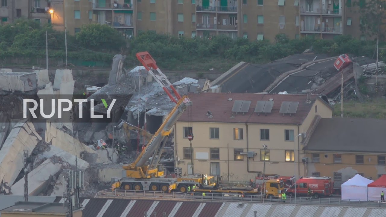 Italy: Search for Genoa bridge survivors continues round the clock