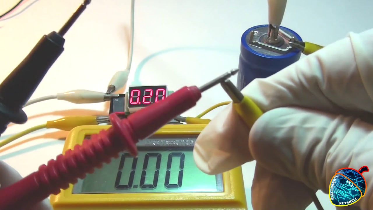Charging A 350f Maxwell Ultracapacitor!  Electronics In A Nutshell Ϟ ◄Check  It Out! 03:36 HD