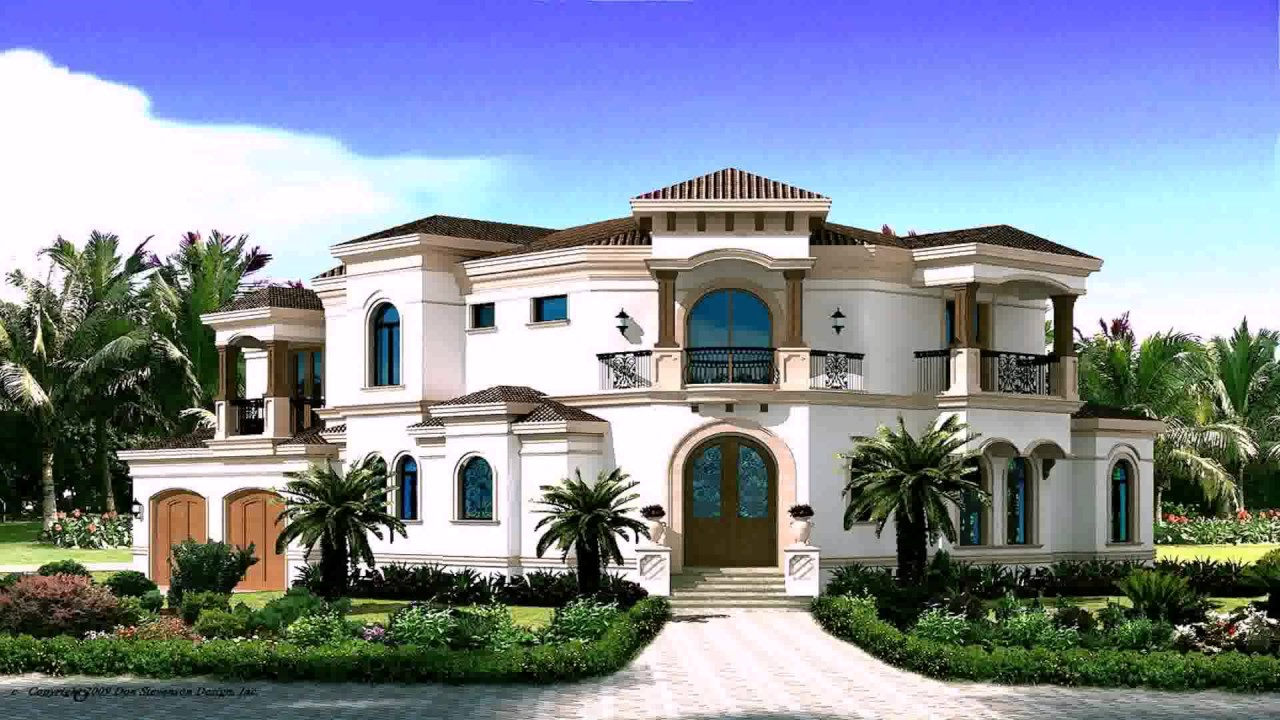 Spanish style house plans narrow lot youtube for Spanish house plans