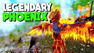 TAMING A MAX LEVEL LEGENDARY PHOENIX! - Primal Fear Modded ARK: Survival Evolved  S1.Ep5