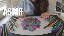 ASMR - Mandala ausmalen - Mandala Coloring - german/deutsch