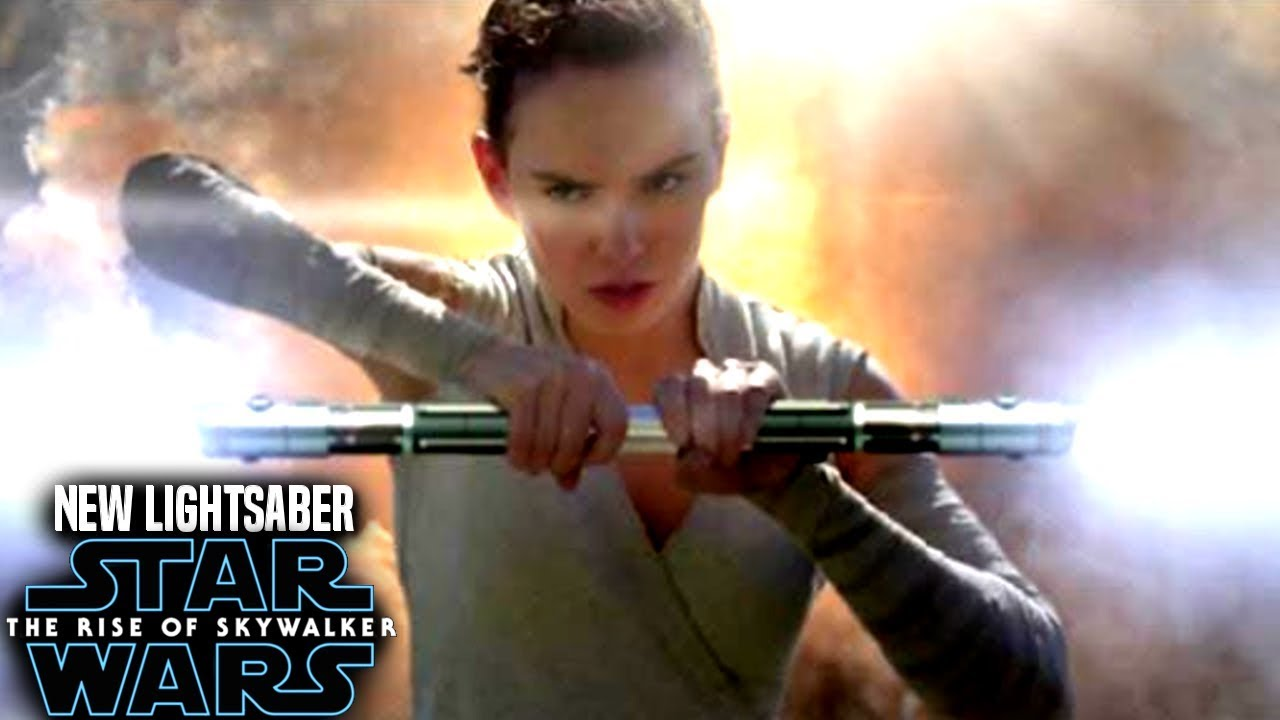 The Rise Of Skywalker Rey S New Lightsaber Leaks Revealed Star Wars Episode 9 Youtube