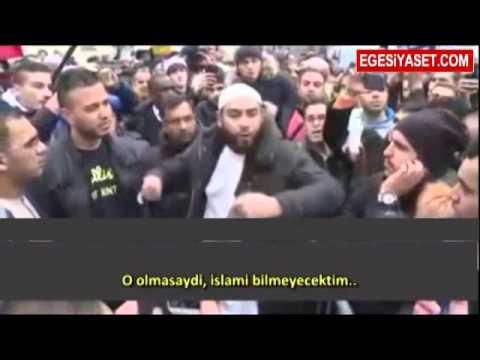 Müslüman Genç Paris'te Binlerin Önünde Haykırdı!