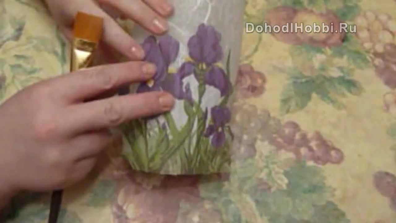 Декупаж цветы все