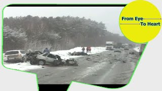 Car Crash and Slip , Slide Rain and Winter Weather Compilation OCTOBER 2017 (1214) HD