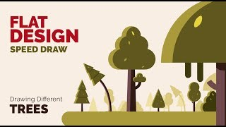 Trees _ Flat Design  - Speed Draw